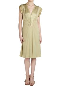 Ghost Elana Dress Lint Green