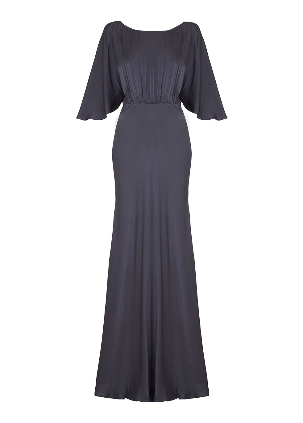 1940s Style Prom, Party, Cocktail Dresses Ghost Gaby Dress Charcoal £295.00 AT vintagedancer.com