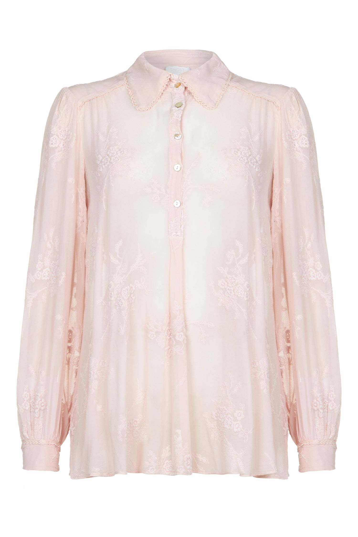 Ghost Clara Blouse Nude Nude £145.00 AT vintagedancer.com