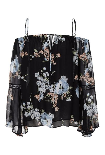 Ghost Fifi Poppie Vintage Print Blouse