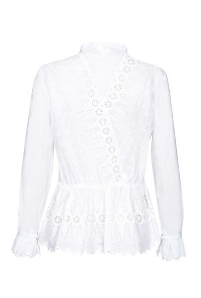 Ghost Erin Blouse White
