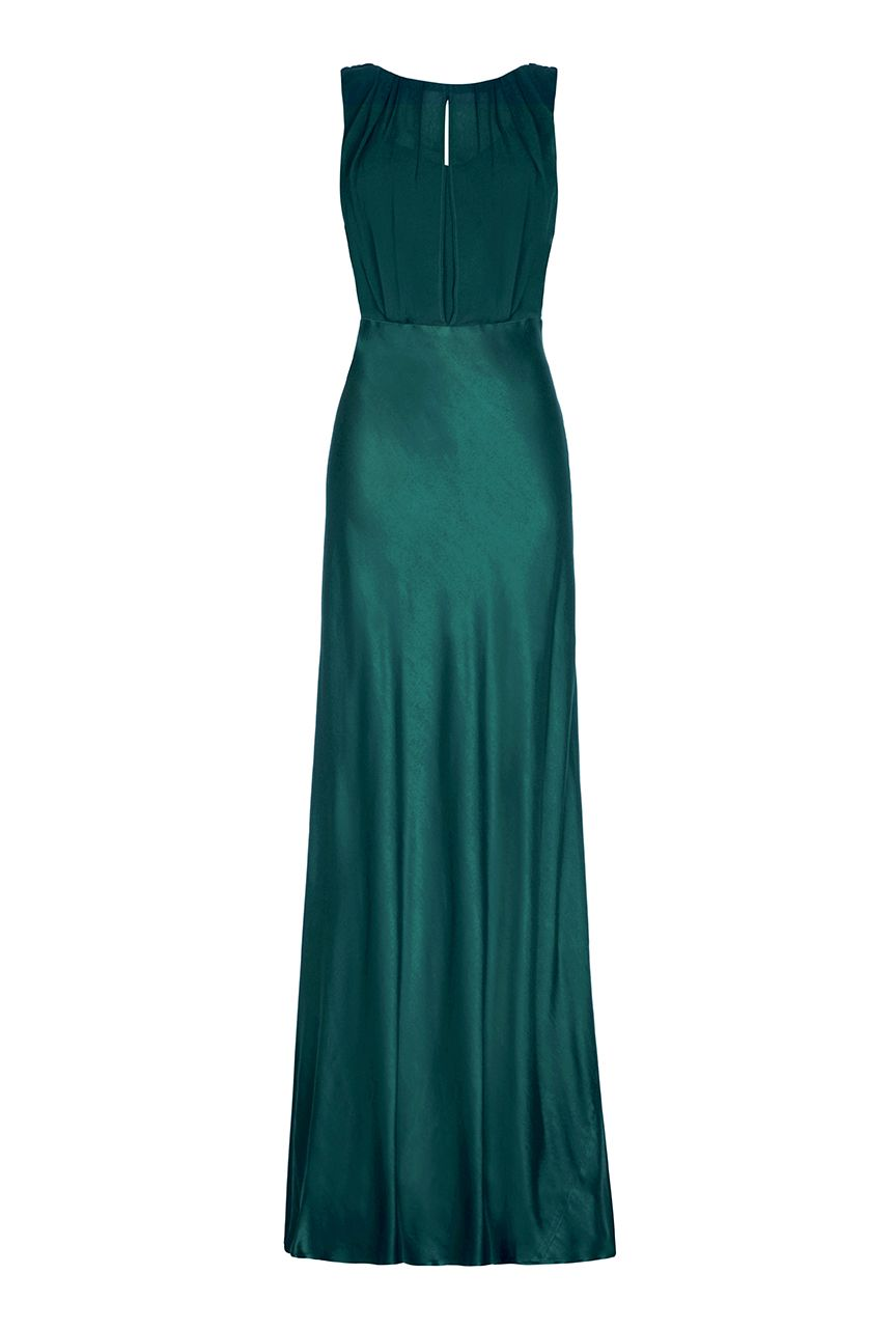 Ghost Claudia Dress, Emerald