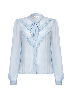 Danice Blouse Faded Blue