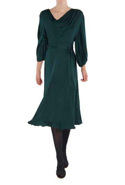 Ghost Astrid Dress Portia Green