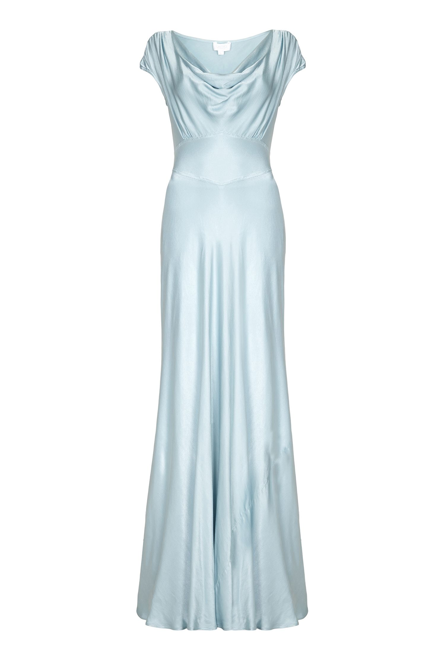 Ghost Fern Dress, Light Blue