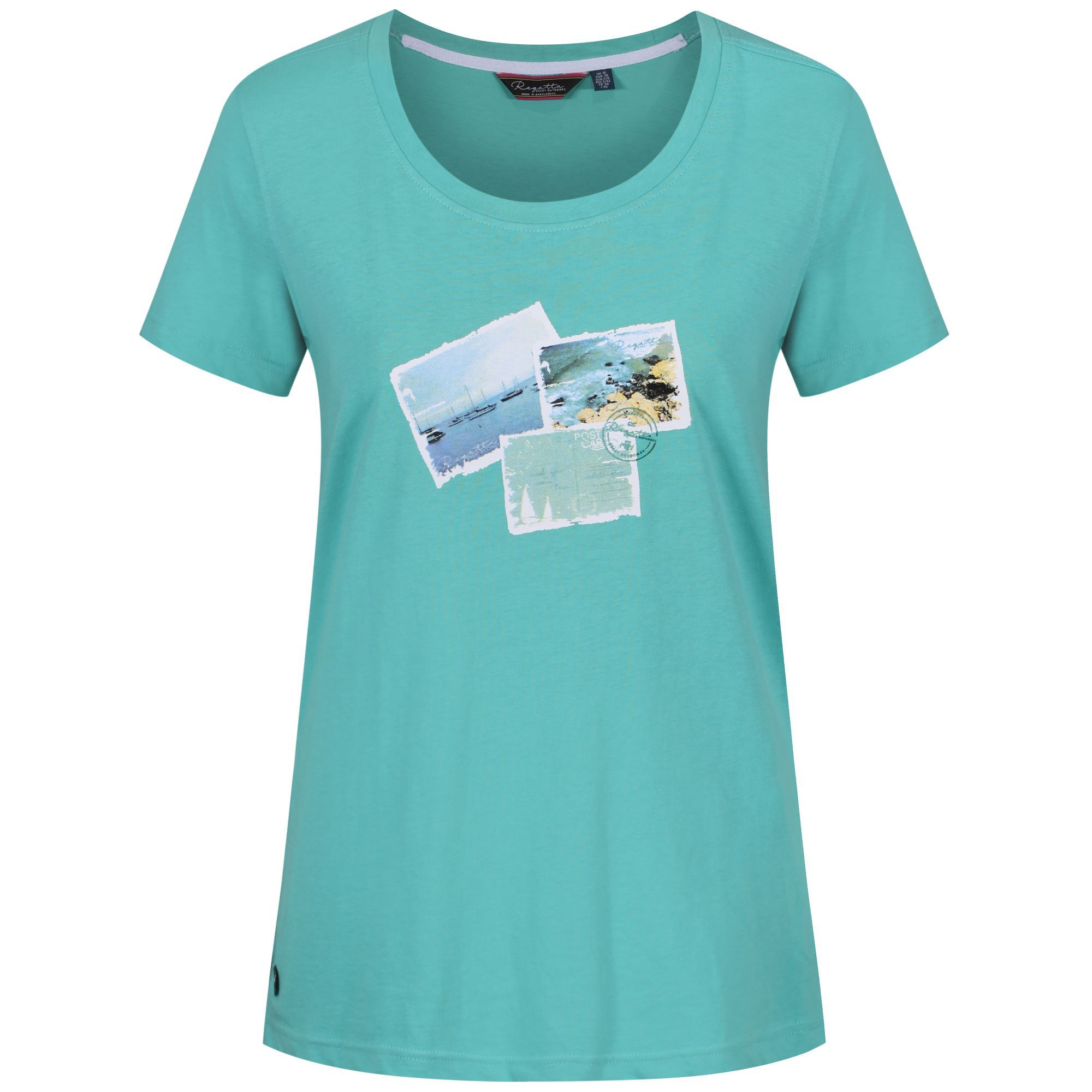 Regatta Filandra Cotton Print T-Shirt, Jade