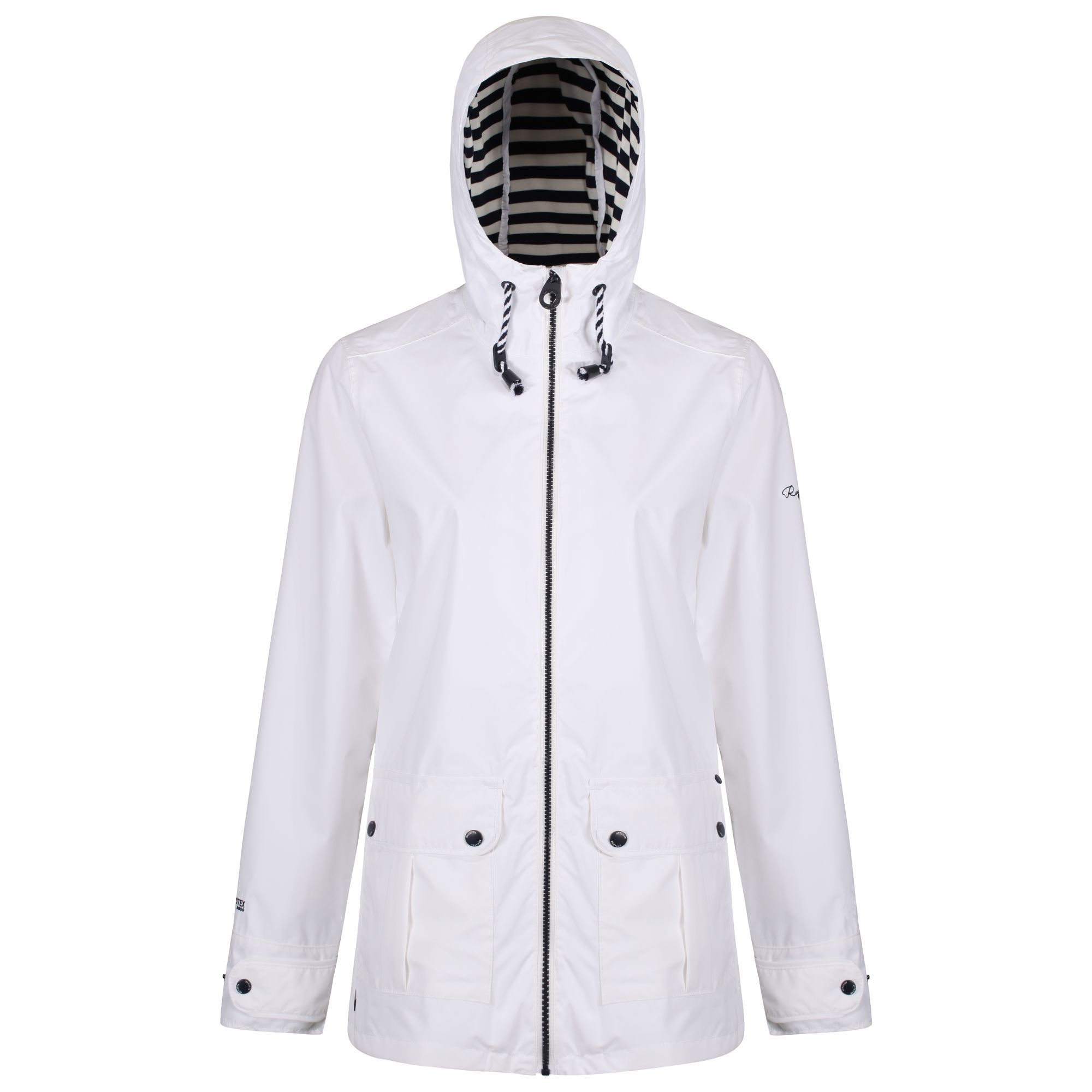 Regatta Bayeur Waterproof Jacket, White