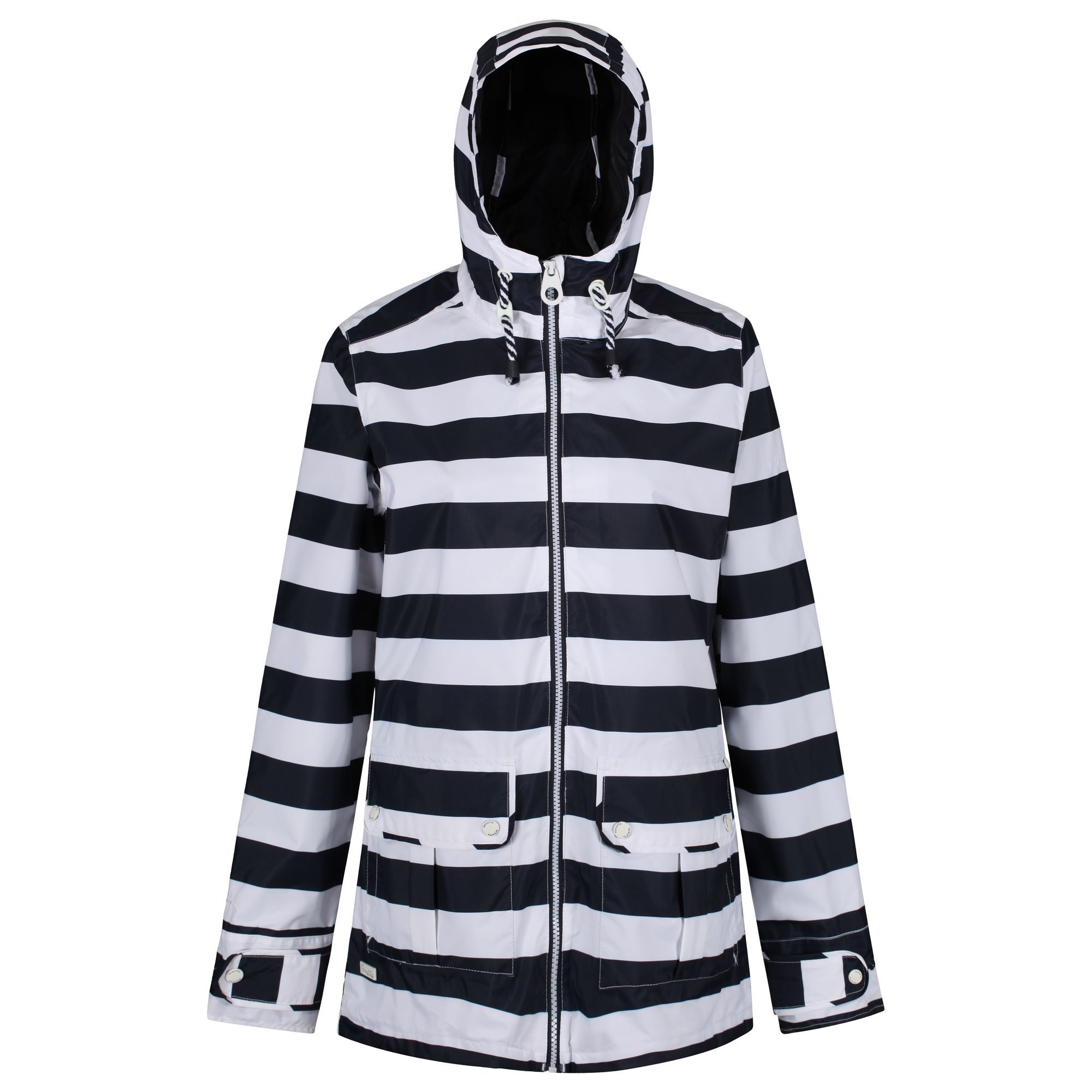 Regatta Bayeur Waterproof Jacket, Blue Stripe
