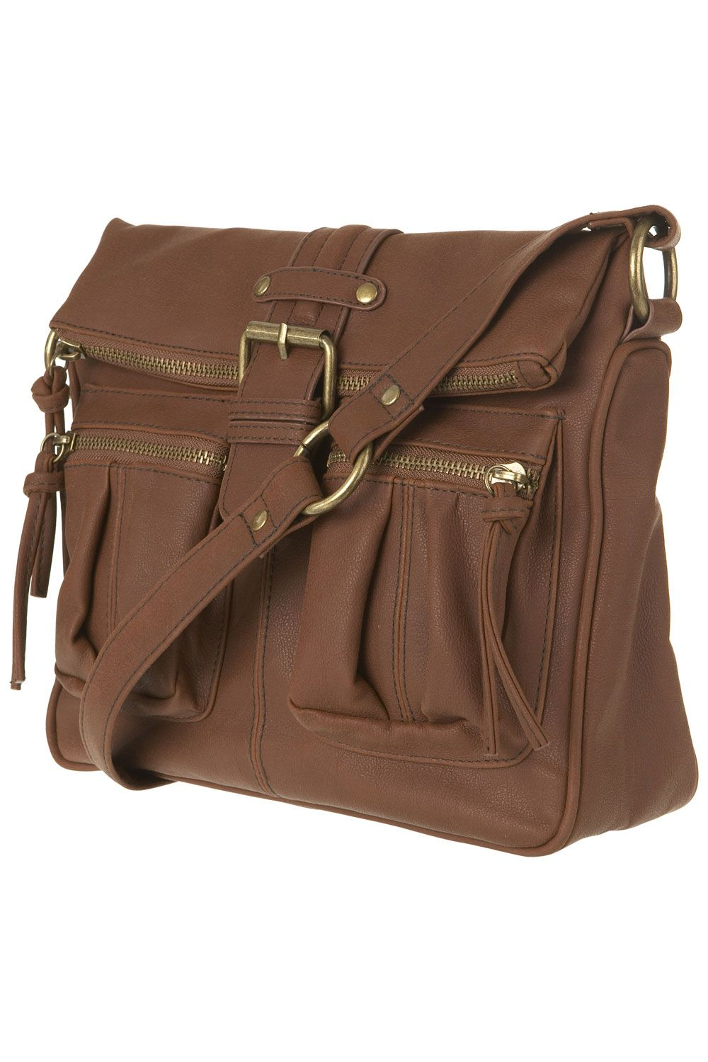 Warehouse Buckle front crossbody Brown product image