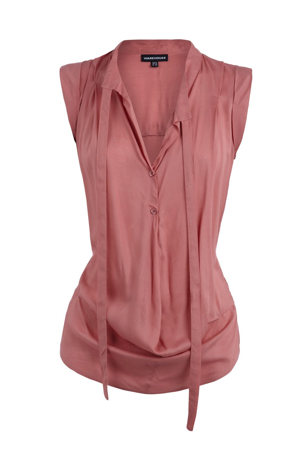 Warehouse Drape front blouse - Pink 16,16 product image