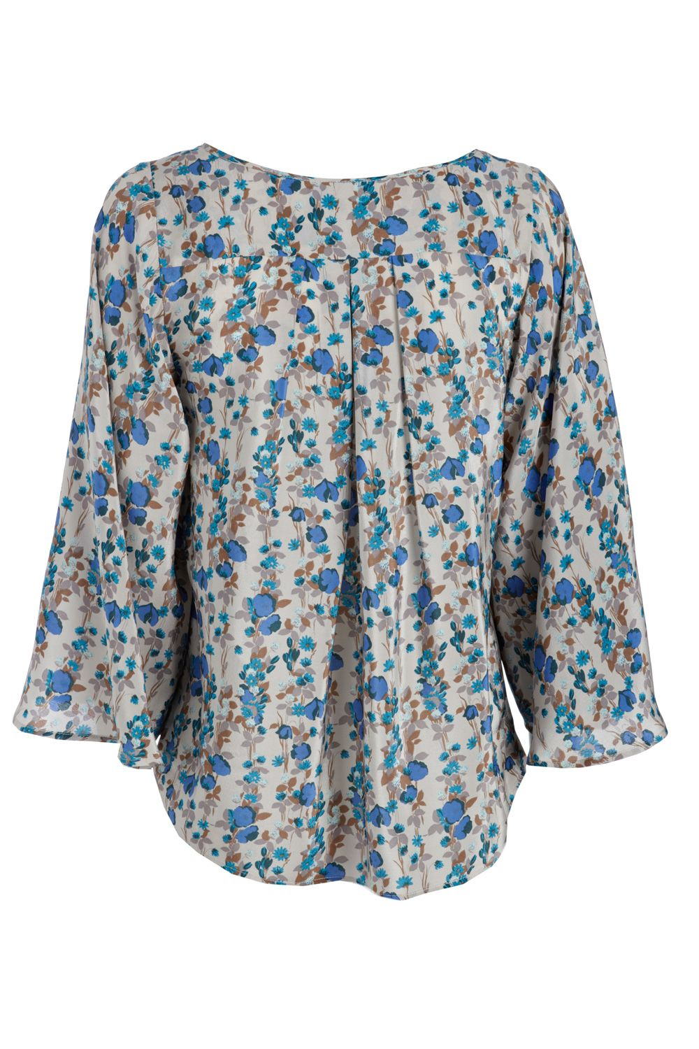 Warehouse Linear poppy blouse Multi-Coloured product image