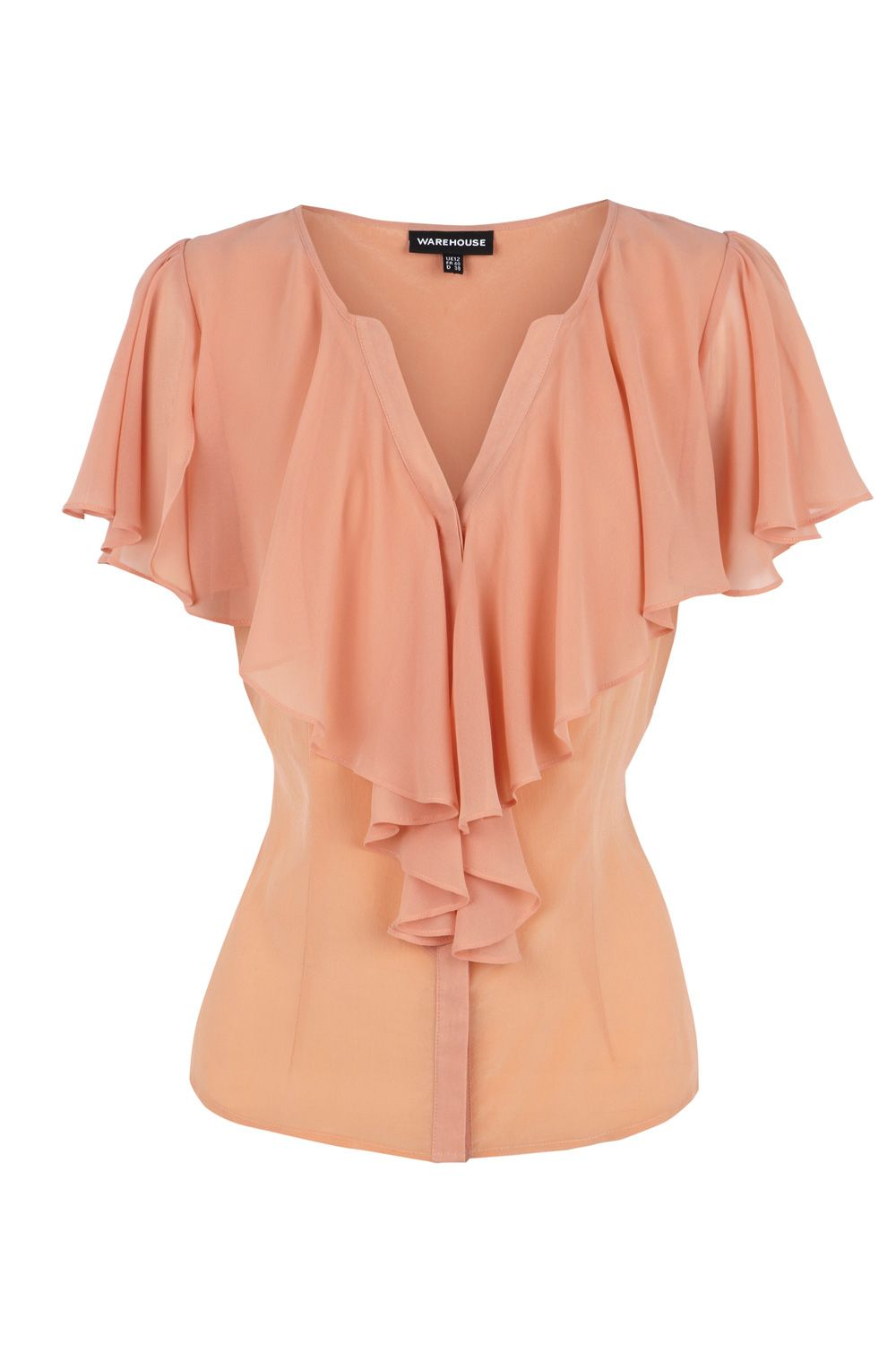 Warehouse Womens Warehouse Cape detail clean blouse, product image