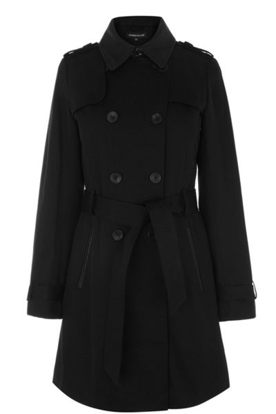 Detachable lined twill trench