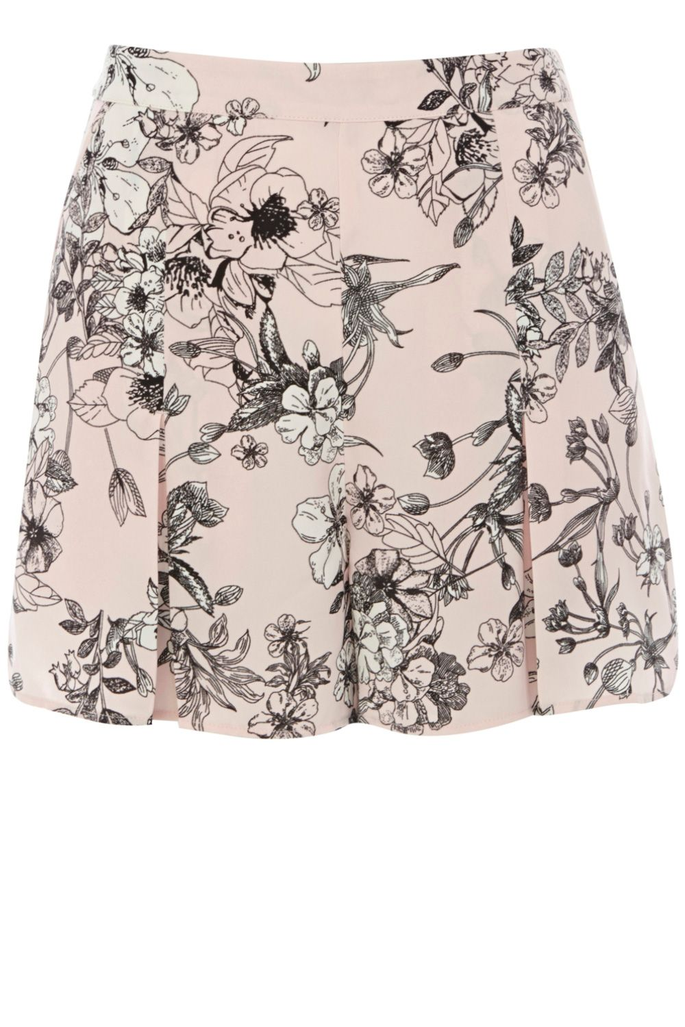 Drawn floral 40s shorts