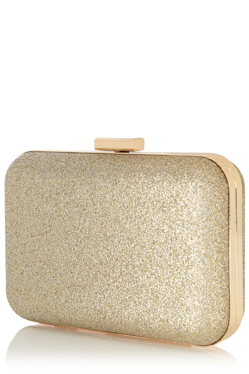 Sparkle hard clutch bag