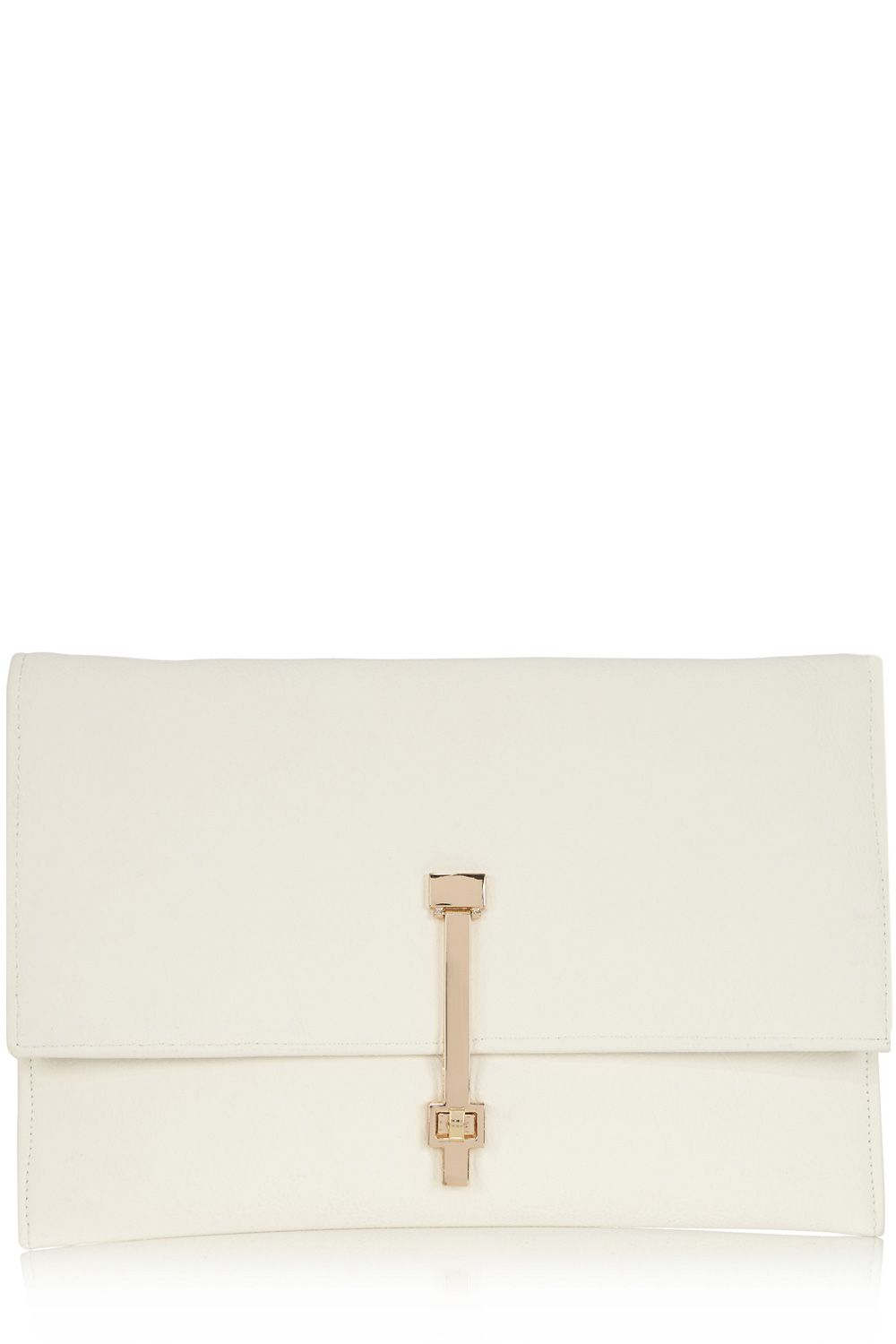 Twist lock detail envelope clutch bag