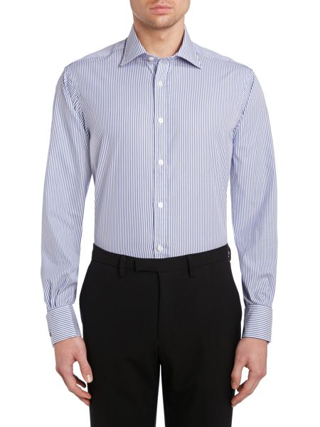 TM Lewin Bengal stripe poplin regular fit shirt