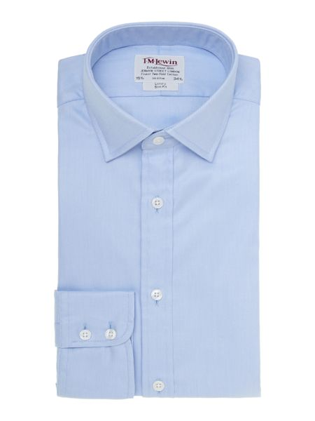TM Lewin Luxury twill slim fit shirt