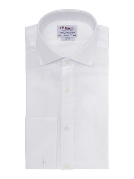 TM Lewin Plain luxury herringbone windsor shirt
