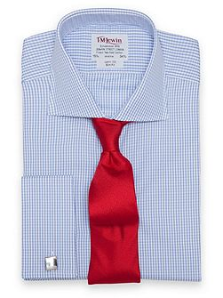 Slim fit gingham Windsor shirt