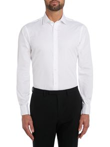 TM Lewin Plain Fully Fitted Long Sleeve Formal Shirt