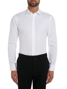 TM Lewin Poplin Plain Fully Fitted Formal Shirt