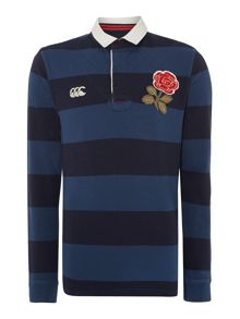 England Wide Stripe Regular Fit Rugby Top