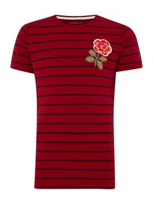 Canterbury England Rose Stripe T-Shirt
