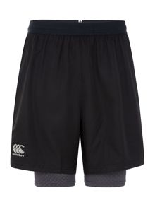2 In 1 Cotton Run Shorts