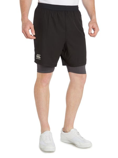 Canterbury 2 In 1 Cotton Run Shorts