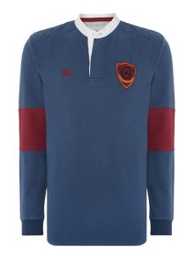 Plain Grandad Collar Regular Fit Rugby Top
