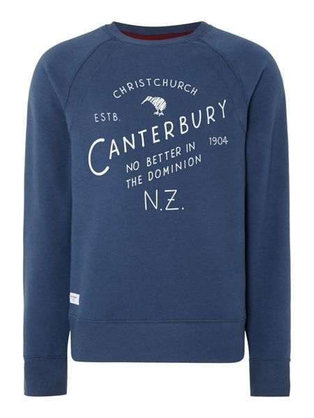 Canterbury Christchurch Plain Crew Neck Pull Over Overhead