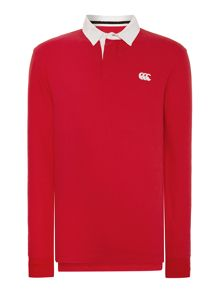 Canterbury Long Sleeve Plain Rugby Shirt