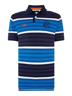 Yarn Dyed Stripe Pique Polo