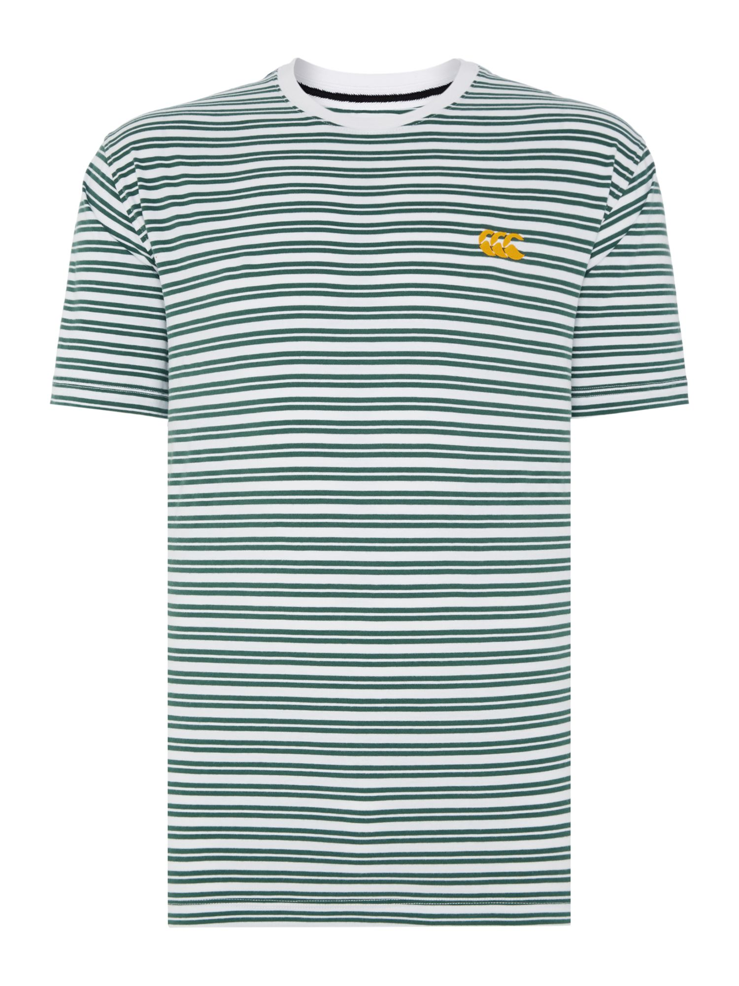 Men's Canterbury Yarn Dyed Stripe Tee, White