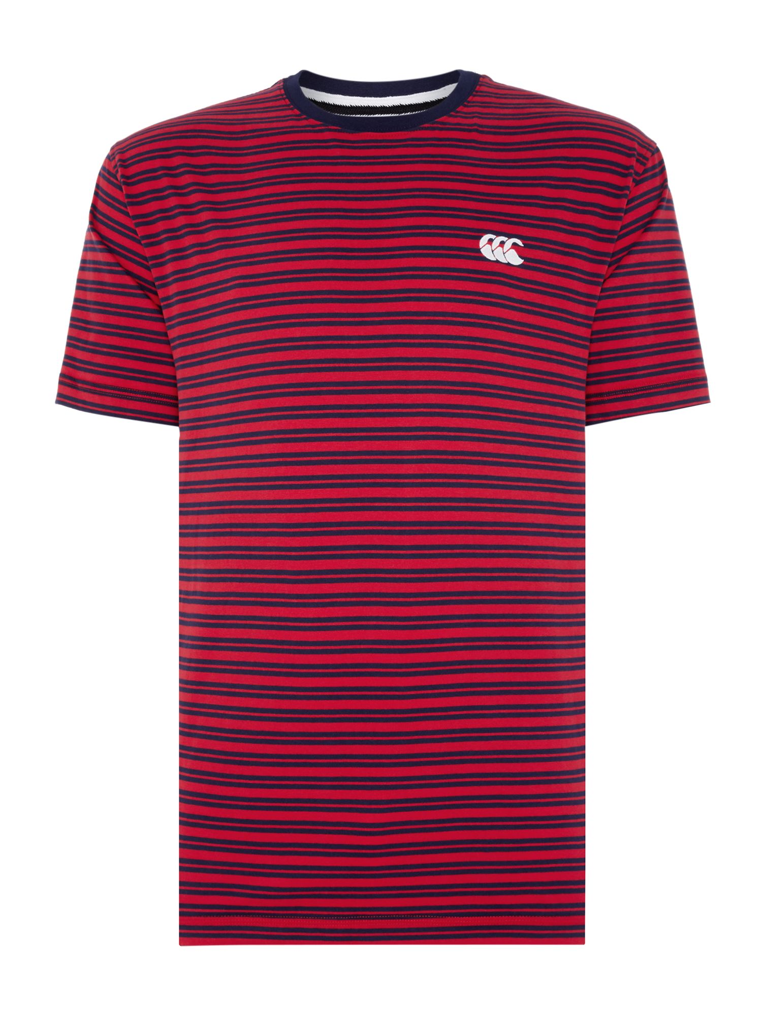 Men's Canterbury Yarn Dyed Stripe Tee, Red