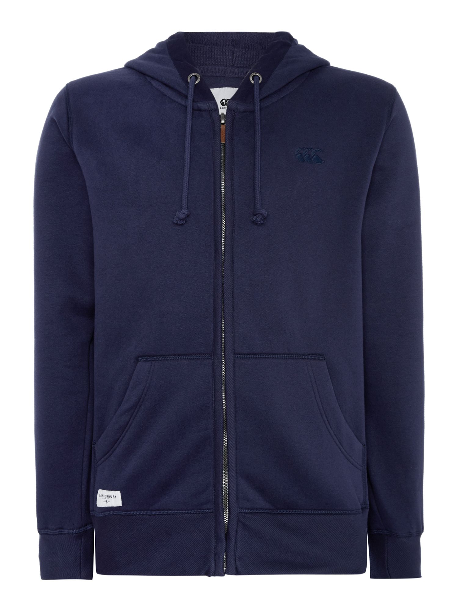 Men's Canterbury Zip Through Hoody, Blue