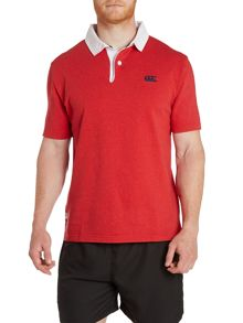 Short Sleeve Stripe Rugby Polo Shirt