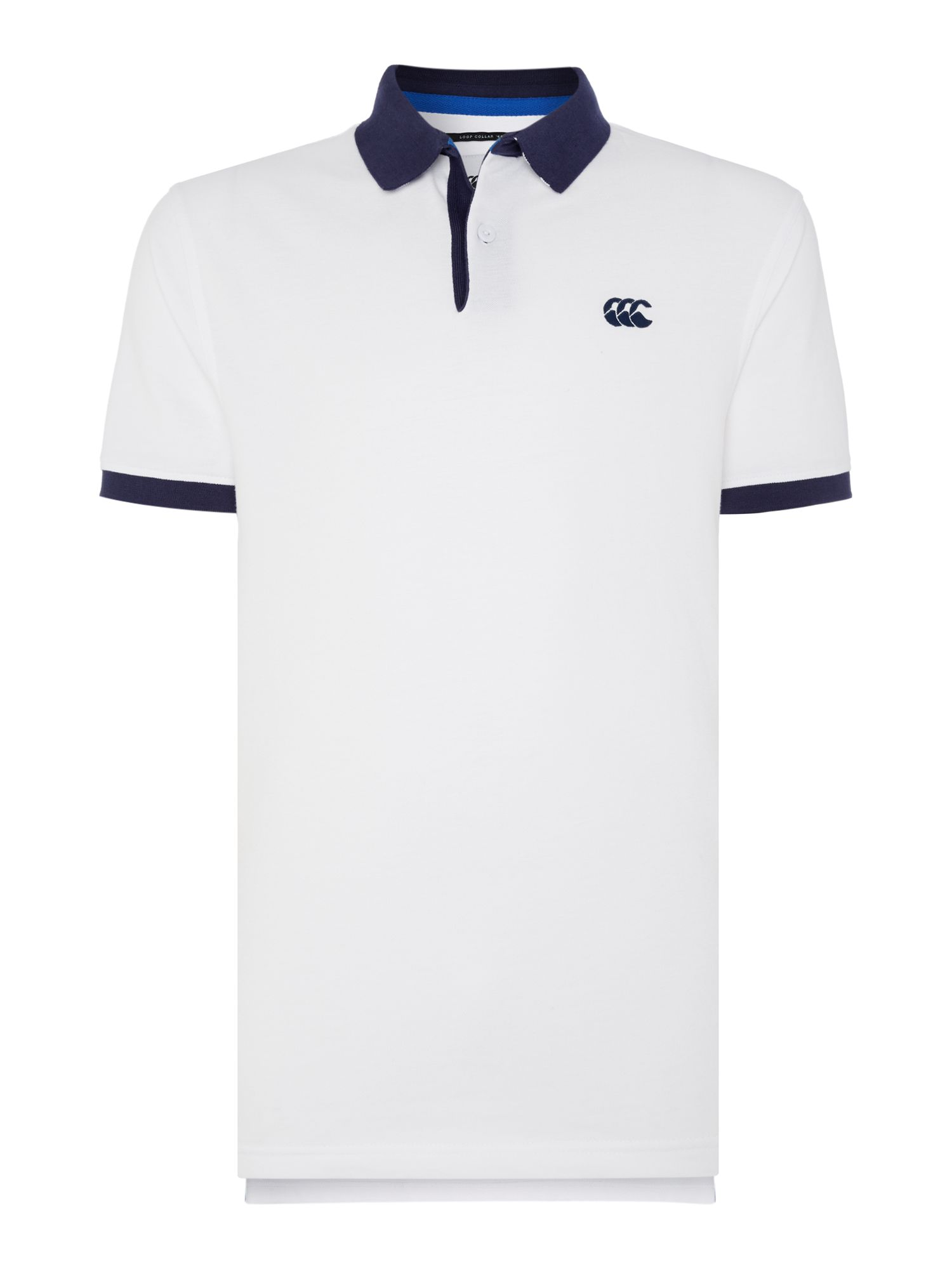 Men's Canterbury Classic CCC Pique Polo Shirt, Optical White