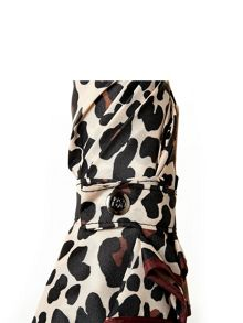 Moda in Pelle Leopard print umbrella