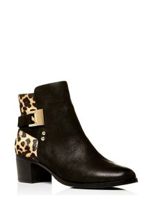 Moda in Pelle Azurra medium smart short boots