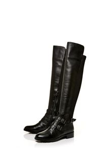 Verna low casual long boots