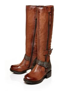 Galante low casual long boots