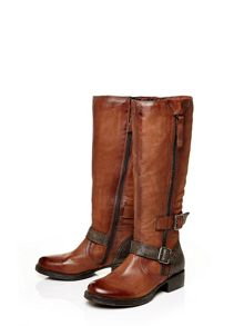 Moda in Pelle Galante low casual long boots