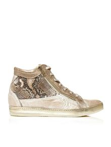 Fontro hidden wedge lace up trainers