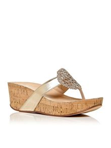 Moda in Pelle Zanettie wedge cork sandals