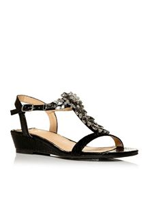 Moda in Pelle Rosini low wedged sandals