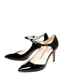 Moda in Pelle Coria high heeled semi dorsay shoes