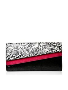 Moda in Pelle Calidaclutch asymmetric clutch bag