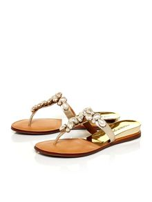 Moda in Pelle Valior flat leather sandals